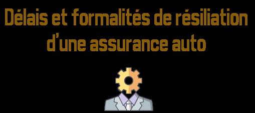 delais formalites resiliation assurance auto